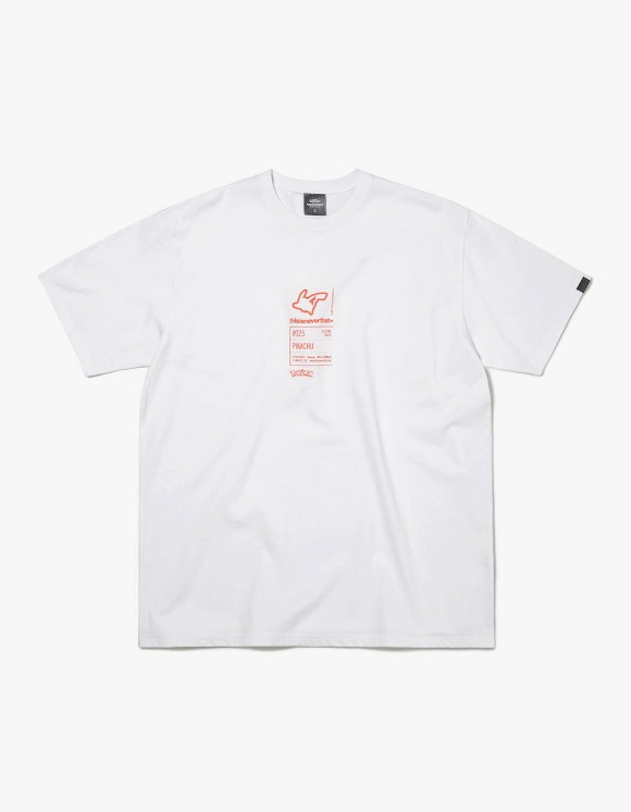 thisisneverthat PKM Information Tee - White/Orange | HEIGHTS. | 하이츠 온라인 스토어