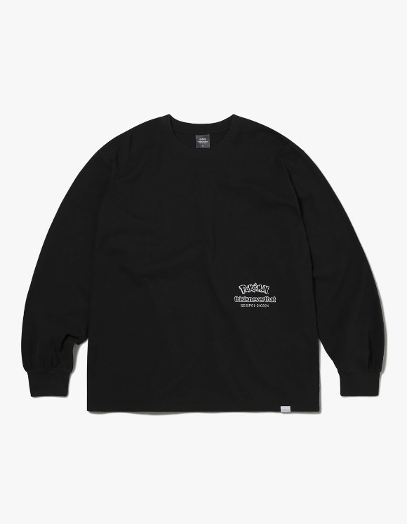 thisisneverthat PKM Break L/SL Top - Black | HEIGHTS. | 하이츠 온라인 스토어