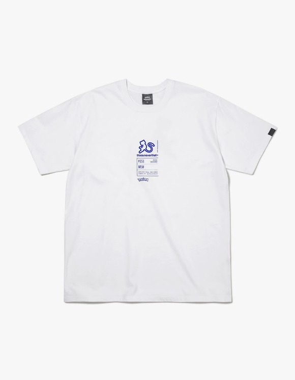 thisisneverthat PKM Information Tee - White/Blue | HEIGHTS. | 하이츠 온라인 스토어