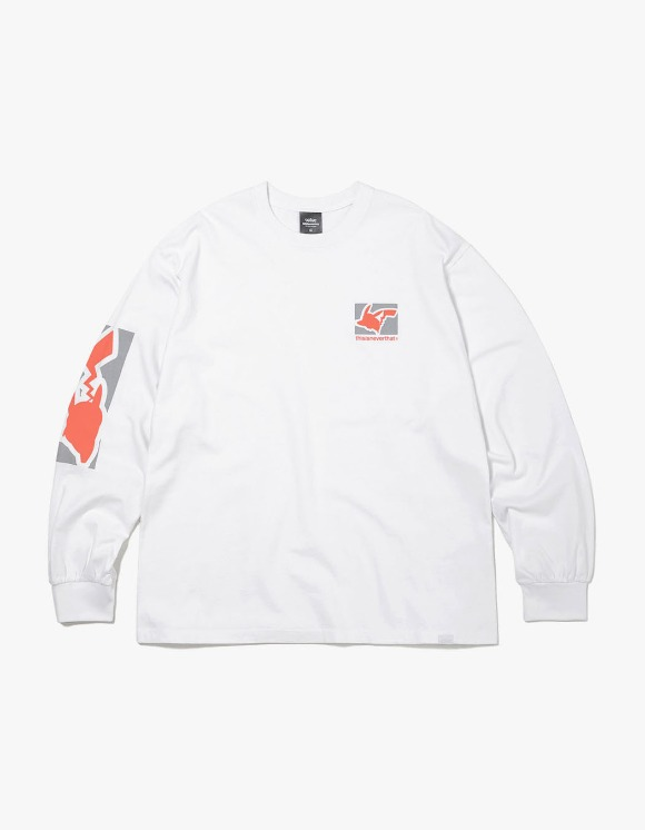 thisisneverthat PKM Reflective L/SL Top - White/Orange | HEIGHTS. | 하이츠 온라인 스토어