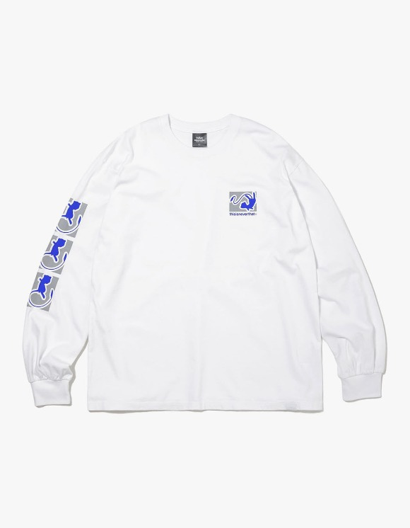thisisneverthat PKM Reflective L/SL Top - White/Blue | HEIGHTS. | 하이츠 온라인 스토어