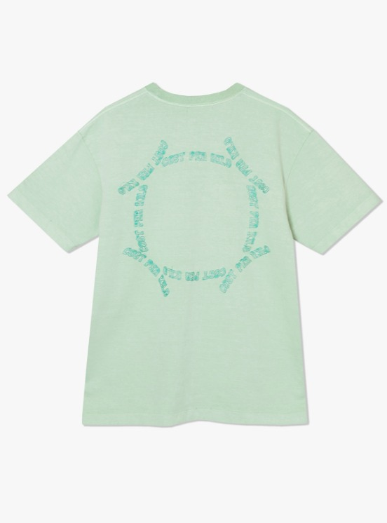 Cost Per Kilo Circultion Embroidered S/S Tee - Mint | HEIGHTS. | 하이츠 온라인 스토어