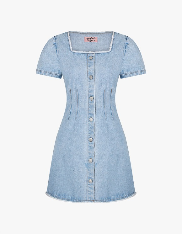 Margarin Fingers Square Denim One Piece - Light Blue | HEIGHTS. | 하이츠 온라인 스토어