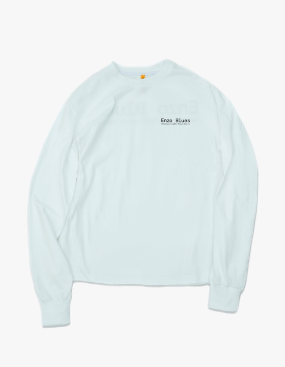 Enzo Blues Enzo Keywords L/S Tee - White | HEIGHTS. | 하이츠 온라인 스토어
