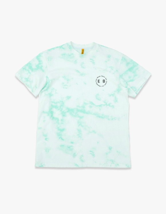 Enzo Blues Round Slogan Tie Dyed S/S Tee - Green | HEIGHTS. | 하이츠 온라인 스토어