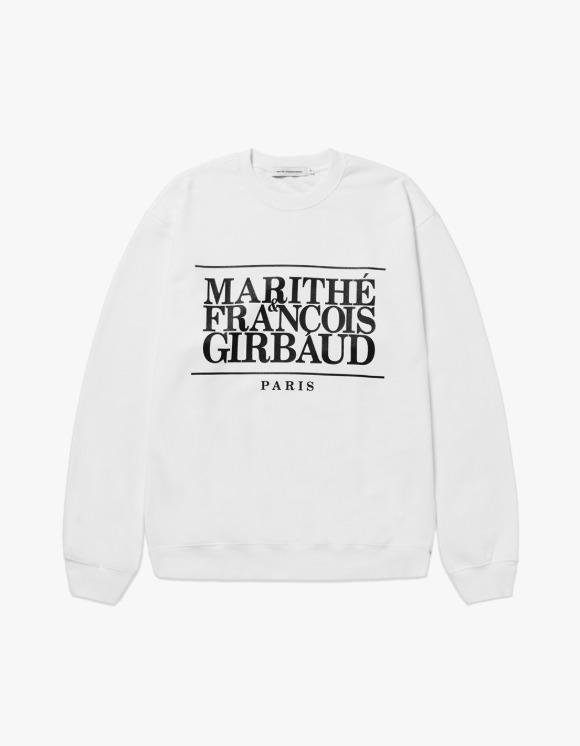 Marith+Franois Girbaud MARITHE CLASSIC LOGO SWEATSHIRT off white | HEIGHTS. | 하이츠 온라인 스토어