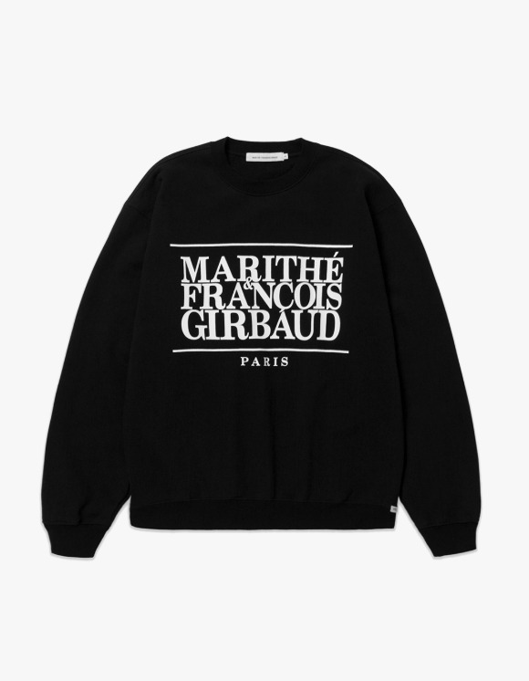 Marith+Franois Girbaud MARITHE CLASSIC LOGO SWEATSHIRT black | HEIGHTS. | 하이츠 온라인 스토어