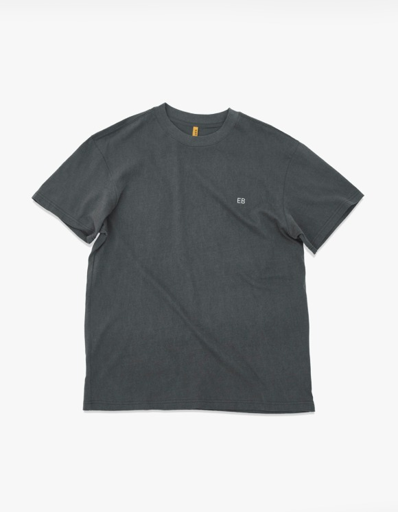 Enzo Blues EB Pig Dyed S/S Tee - Dark Grey | HEIGHTS. | 하이츠 온라인 스토어
