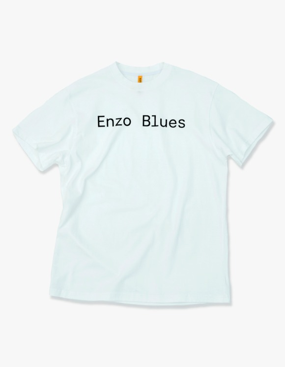 Enzo Blues Basic Logo S/S Tee - White | HEIGHTS. | 하이츠 온라인 스토어