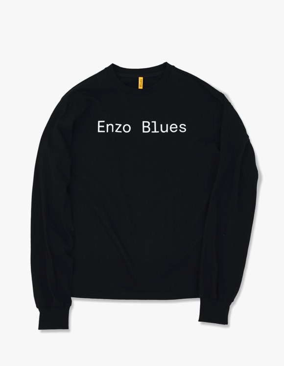 Enzo Blues Baisc Logo L/S Tee - Black | HEIGHTS. | 하이츠 온라인 스토어
