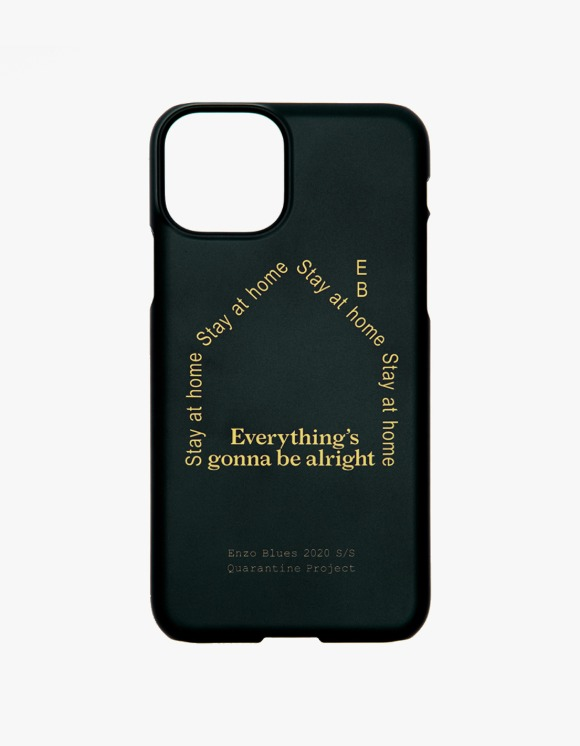 Enzo Blues Quarantine Logo Phone Case - Black | HEIGHTS. | 하이츠 온라인 스토어