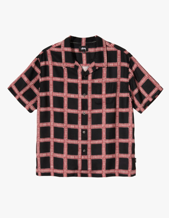Stussy Hand Drawn Plaid Shirt - Black | HEIGHTS. | 하이츠 온라인 스토어