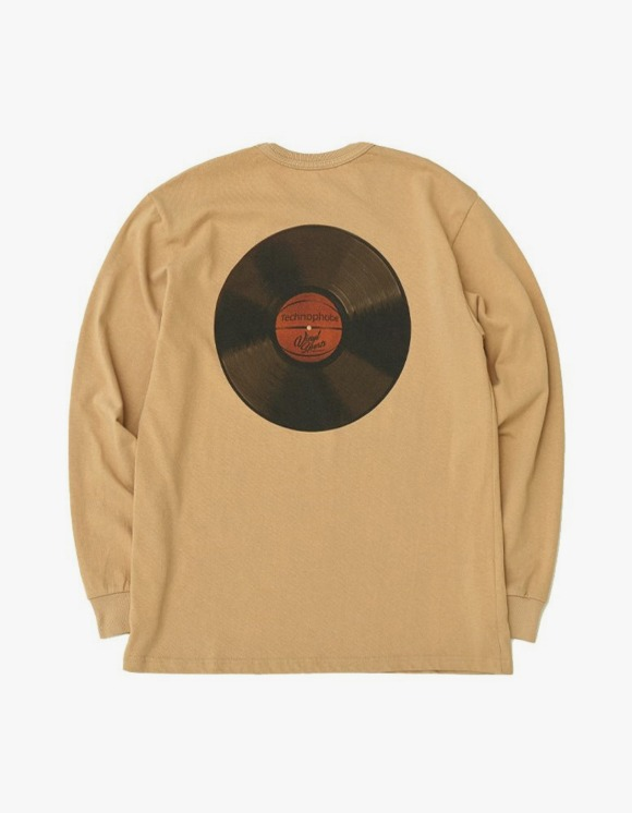 Technophobe TECHNOPHOBE Vinyl Sports L/S Tee - S.Beige | HEIGHTS. | 하이츠 온라인 스토어