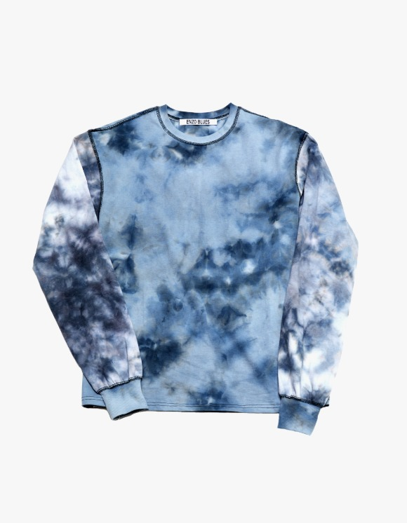 Enzo Blues Tie Dyed L/S Tee - Blue | HEIGHTS. | 하이츠 온라인 스토어