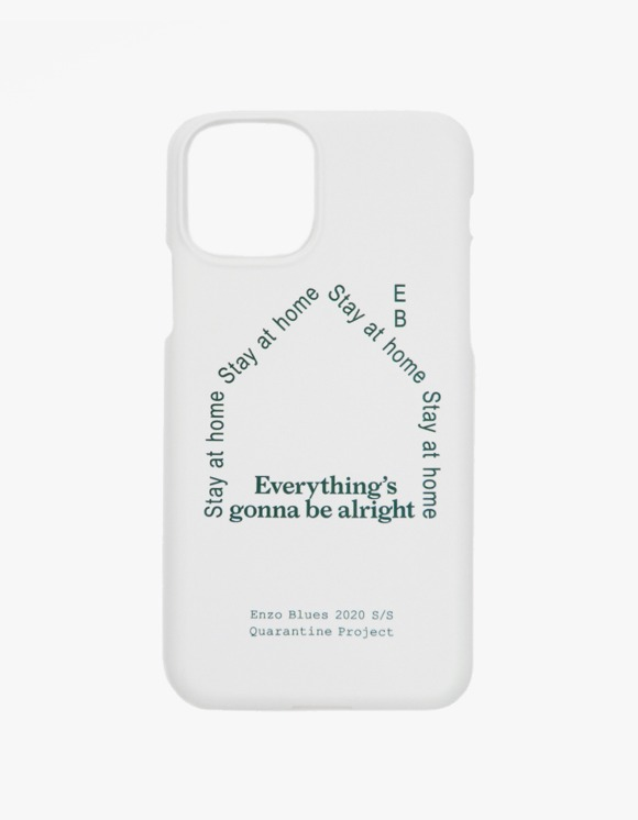 Enzo Blues Quarantine Logo Phone Case - White | HEIGHTS. | 하이츠 온라인 스토어