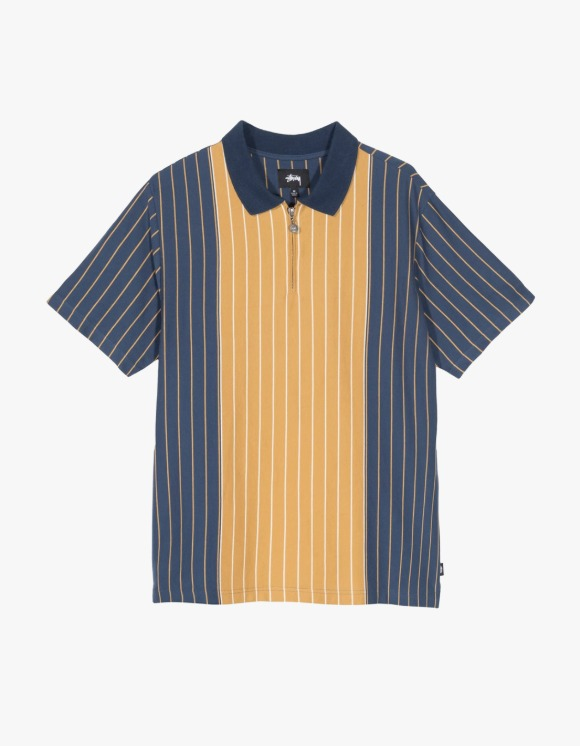 Stussy Tivoli Stripe Polo - Navy | HEIGHTS. | 하이츠 온라인 스토어