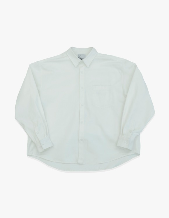 Enzo Blues Oversize Heavy Oxford Shirt Jacket - Off White | HEIGHTS. | 하이츠 온라인 스토어