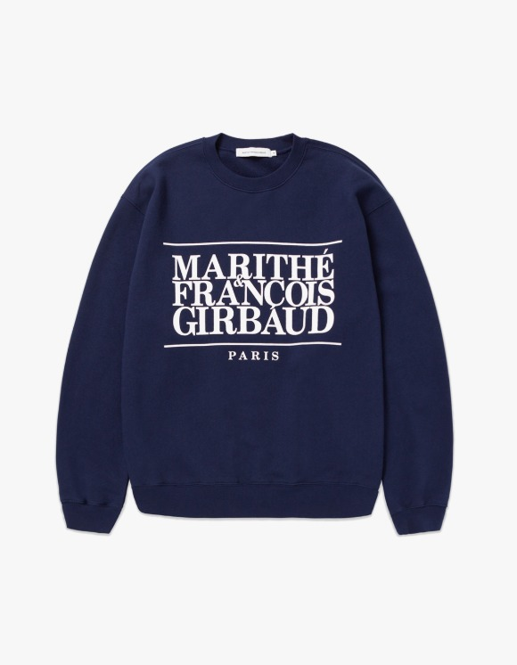 Marith+Franois Girbaud MARITHE CLASSIC LOGO SWEATSHIRT navy | HEIGHTS. | 하이츠 온라인 스토어