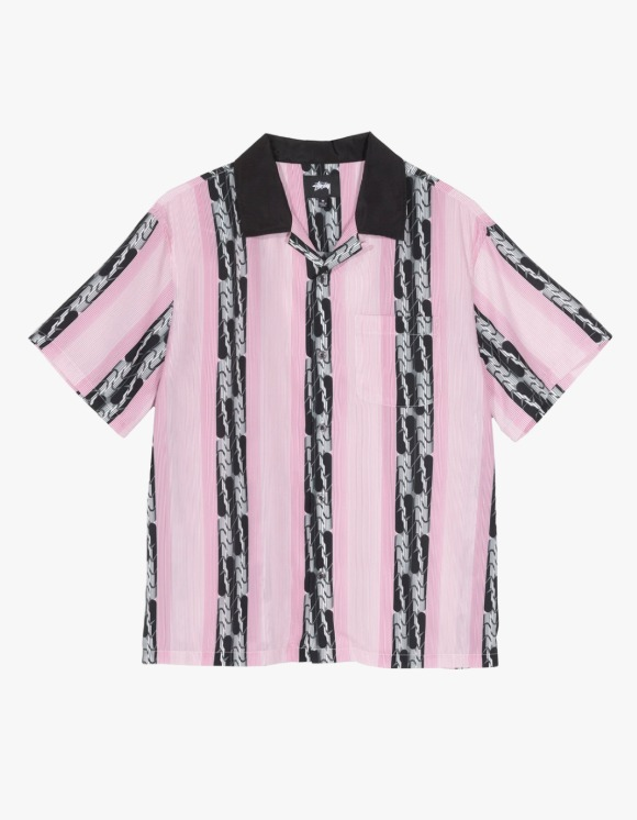 Stussy Deco Striped Shirt - Pink | HEIGHTS. | 하이츠 온라인 스토어