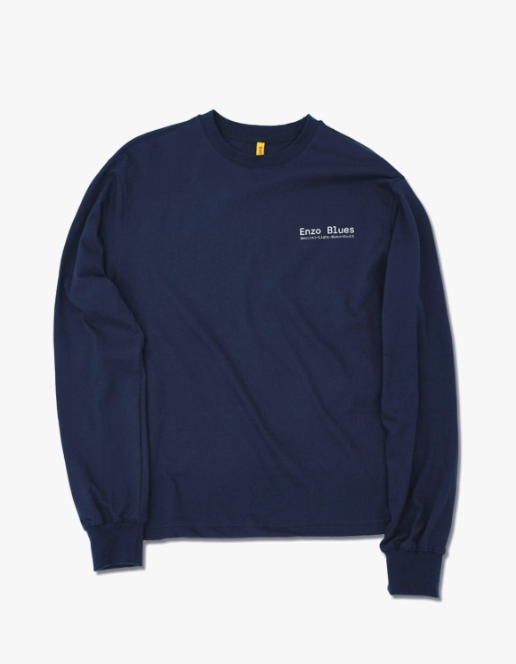 Enzo Blues Enzo Keywords L/S Tee - Midnight Blue | HEIGHTS. | 하이츠 온라인 스토어