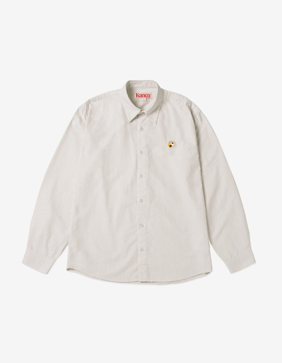 KANCO KANCO LOGO OXFORD SHIRT beige | HEIGHTS. | 하이츠 온라인 스토어