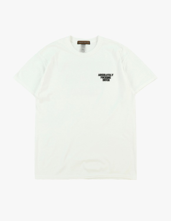 Absolutely Fucking Bitch Og Logo Tee - White | HEIGHTS. | 하이츠 온라인 스토어