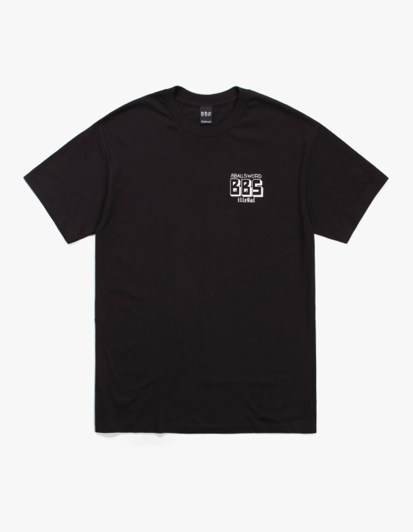 8Ballsword_ BBS Basic Logo S/S Tee - Black | HEIGHTS. | 하이츠 온라인 스토어