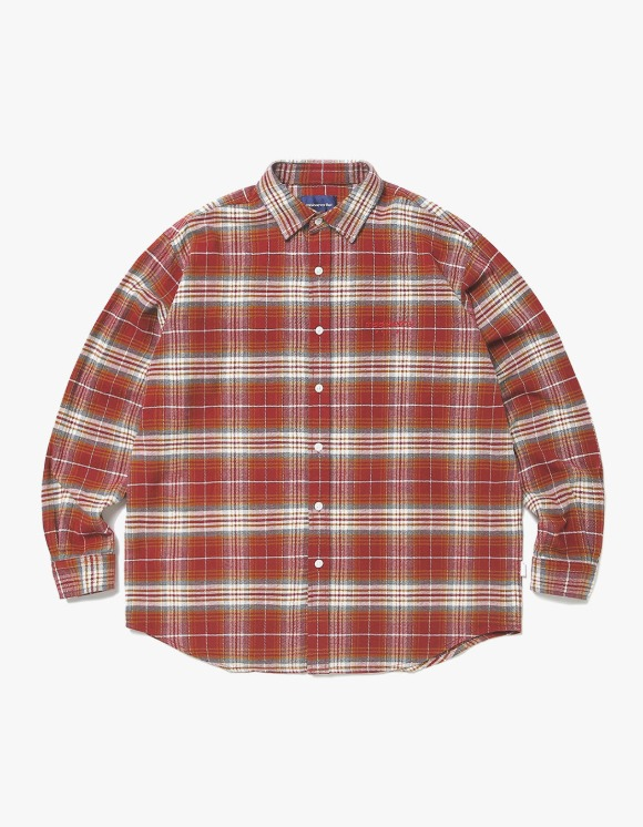 thisisneverthat L-Logo Flannel Shirt - Red | HEIGHTS. | 하이츠 온라인 스토어