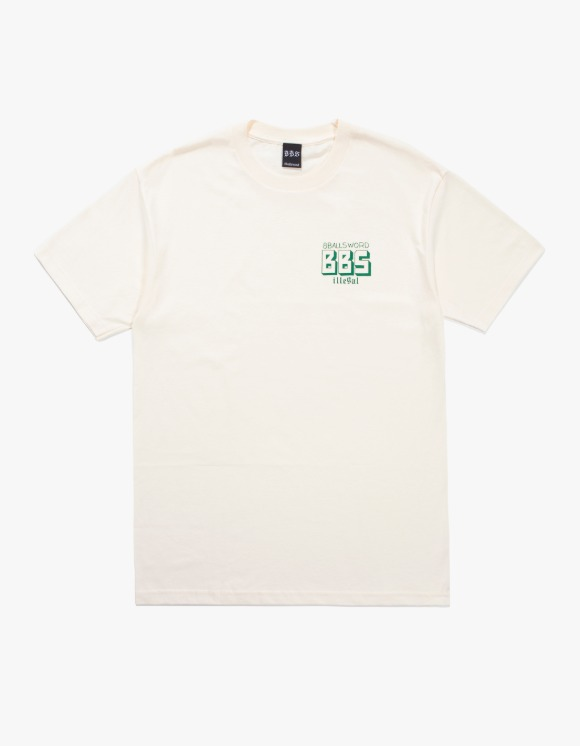 8Ballsword_ BBS Basic Logo S/S Tee - Cream | HEIGHTS. | 하이츠 온라인 스토어