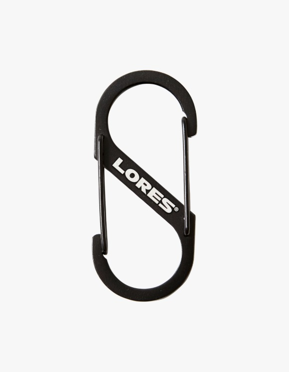 LORES Logo Dual Carabiner - Black | HEIGHTS. | 하이츠 온라인 스토어