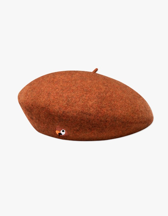 KANCO KANCO LOGO FELT BERET red brown | HEIGHTS. | 하이츠 온라인 스토어