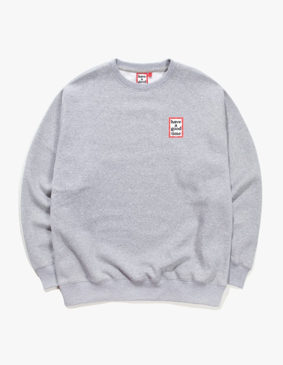 have a good time Mini Frame Crewneck - Heather Grey | HEIGHTS. | 하이츠 온라인 스토어