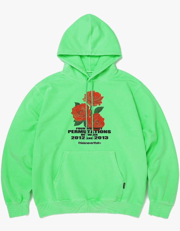 thisisneverthat Rose hooded Sweatshirt - Neon Green | HEIGHTS. | 하이츠 온라인 스토어