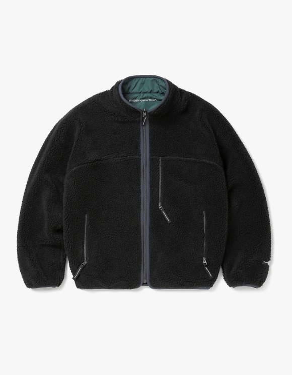 thisisneverthat Reversible Boa Fleece Jacket - Black | HEIGHTS. | 하이츠 온라인 스토어