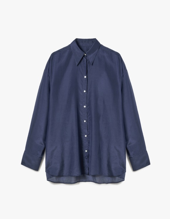 s/e/o  Silk Sheer Shirt - Navy | HEIGHTS. | 하이츠 온라인 스토어