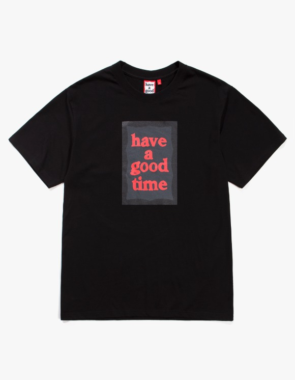 have a good time Black Frame S/S Tee - Black | HEIGHTS. | 하이츠 온라인 스토어