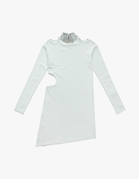TheOpen Product Cut Out Turtle Neck Dress - Mint | HEIGHTS. | 하이츠 온라인 스토어