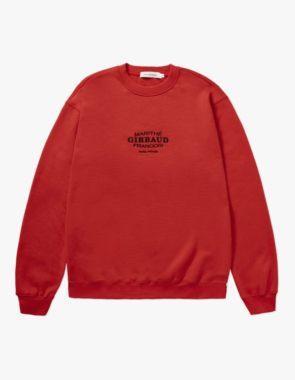 Marith+Franois Girbaud MARITHE OVAL LOGO SWEATSHIRT red | HEIGHTS. | 하이츠 온라인 스토어