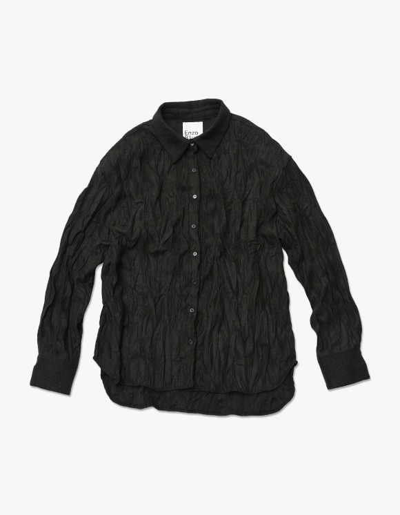 Enzo Blues Crinkle Woody Shirt - Musky Black | HEIGHTS. | 하이츠 온라인 스토어