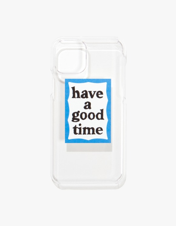 have a good time Blue Frame iPhone Case 11/11 Pro - Clear | HEIGHTS. | 하이츠 온라인 스토어