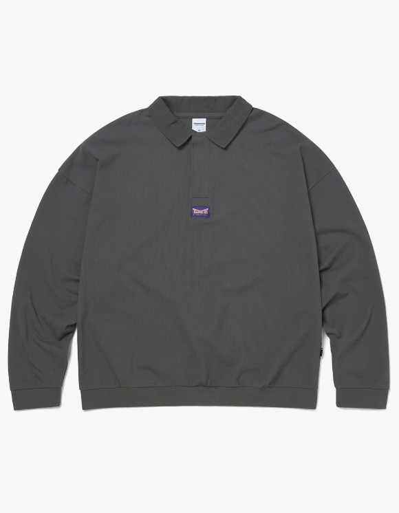 thisisneverthat 3 Button L/SL Polo - Charcoal | HEIGHTS. | 하이츠 온라인 스토어