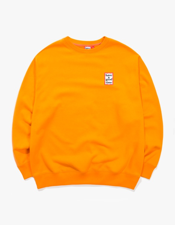have a good time Mini Frame Crewneck - Tangerine | HEIGHTS. | 하이츠 온라인 스토어