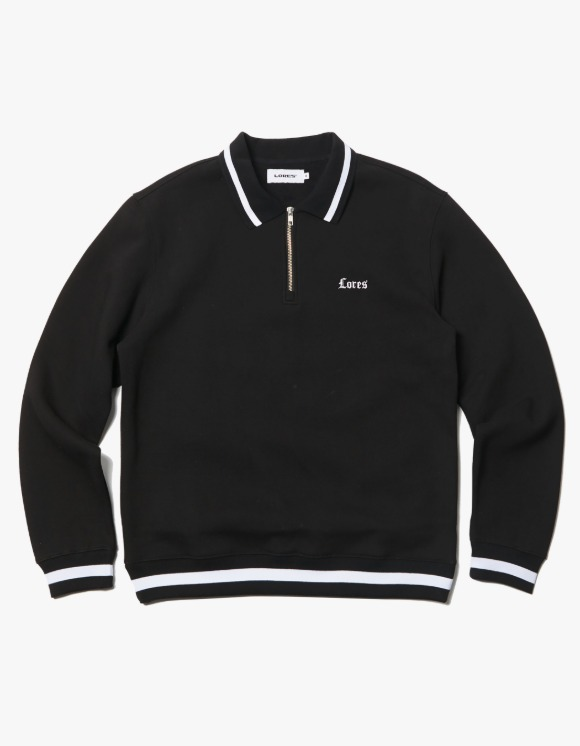 LORES O.E Collar Crewneck - Black | HEIGHTS. | 하이츠 온라인 스토어