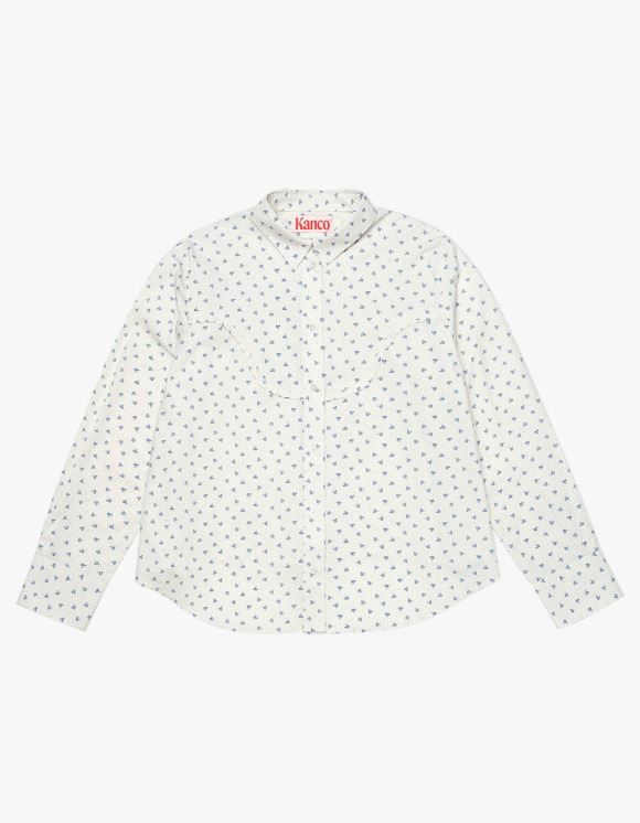 KANCO KANCO FLOWER FRILL SHIRT ivory | HEIGHTS. | 하이츠 온라인 스토어
