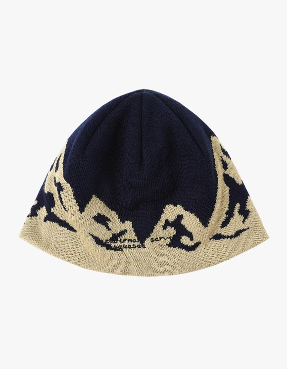 yeseyesee Y.E.S Mountain Beanie - Navy | HEIGHTS. | 하이츠 온라인 스토어