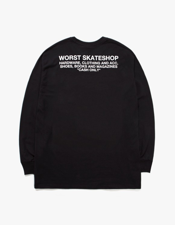 WORST SKATESHOP Flea Market L/S Tee - Black | HEIGHTS. | 하이츠 온라인 스토어