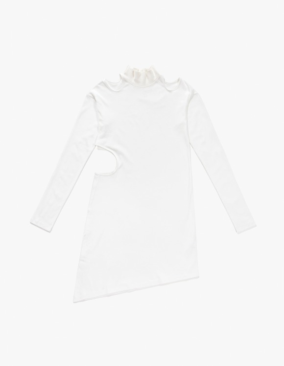 TheOpen Product Cut Out Turtle Neck Dress - White | HEIGHTS. | 하이츠 온라인 스토어