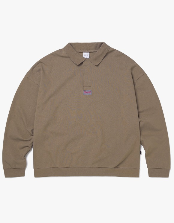 thisisneverthat 3 Button L/SL Polo - Mocha | HEIGHTS. | 하이츠 온라인 스토어