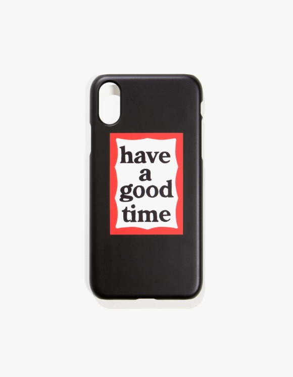have a good time Frame iPhone Case X/XS - Black | HEIGHTS. | 하이츠 온라인 스토어