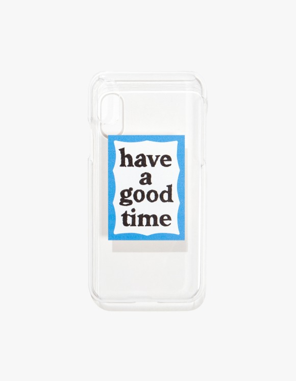 have a good time Blue Frame iPhone Case X/XS - Clear | HEIGHTS. | 하이츠 온라인 스토어